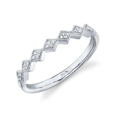 0.05ct 14k White Gold Diamond Lady's Band