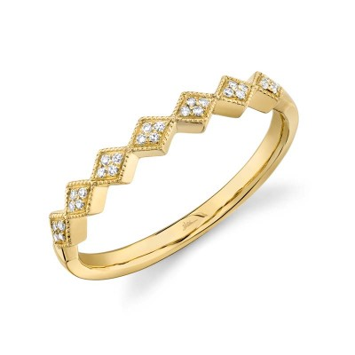 0.05ct 14k Yellow Gold Diamond Lady's Band