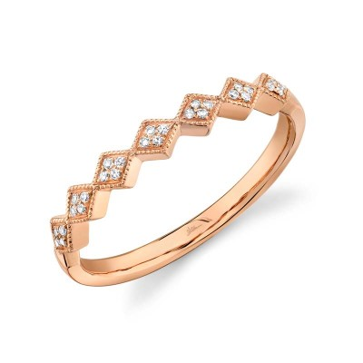 0.05ct 14k Rose Gold Diamond Lady's Band