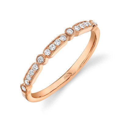 0.16ct 14k Rose Gold Diamond Lady's Band