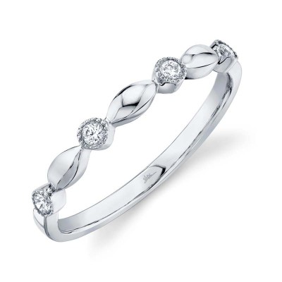 0.08ct 14k White Gold Diamond Lady's Band