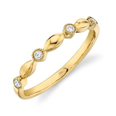 0.08ct 14k Yellow Gold Diamond Lady's Band