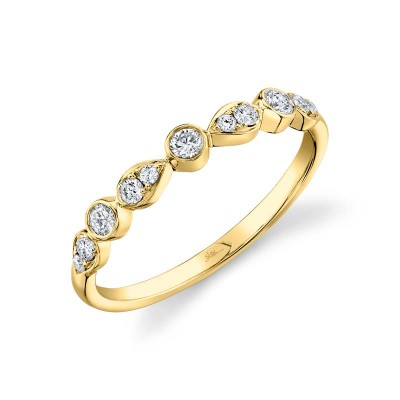 0.24ct 14k Yellow Gold Diamond Lady's Band