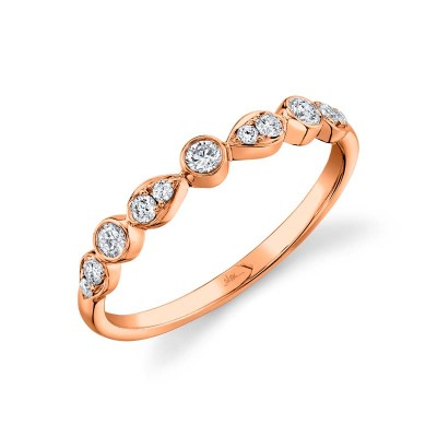 0.24ct 14k Rose Gold Diamond Lady's Band