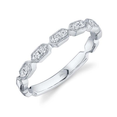 0.16ct 14k White Gold Diamond Lady's Band
