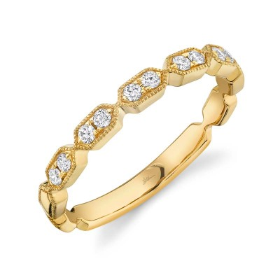 0.16ct 14k Yellow Gold Diamond Lady's Band
