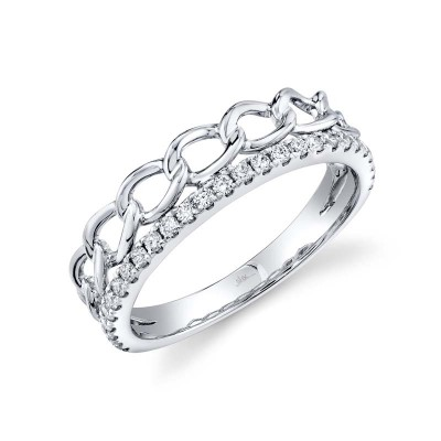 0.28ct 14k White Gold Diamond Link Ring