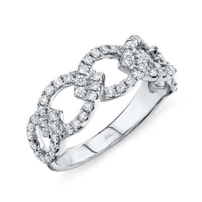 0.61ct 14k White Gold Diamond Link Ring