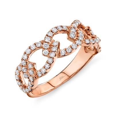 0.61ct 14k Rose Gold Diamond Link Ring