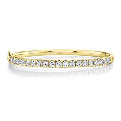 3.04ct 14k Yellow Gold Diamond Bangle