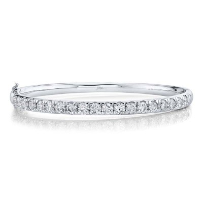 3.95ct 14k White Gold Diamond Bangle