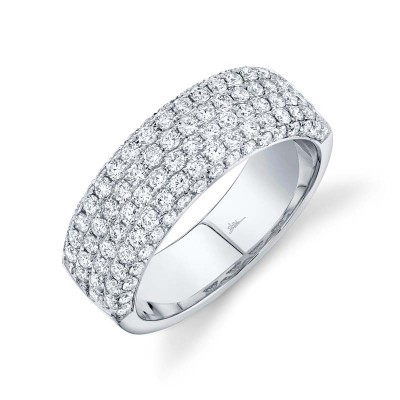1.32ct 14k White Gold Diamond Lady's Pave Band