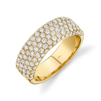 1.32ct 14k Yellow Gold Diamond Lady's Pave Band