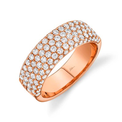 1.32ct 14k Rose Gold Diamond Lady's Pave Band