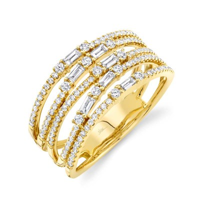 0.67ct 14k Yellow Gold Diamond Lady's Ring