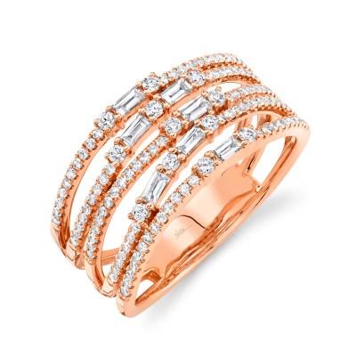 0.67ct 14k Rose Gold Diamond Lady's Ring