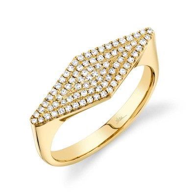 0.25ct 14k Yellow Gold Diamond Pave Lady's Ring