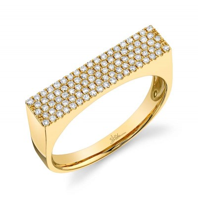 0.30ct 14k Yellow Gold Diamond Pave Lady's Ring