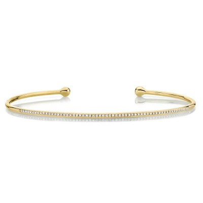 0.17ct 14k Yellow Gold Diamond Bangle