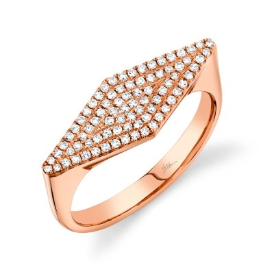 0.25ct 14k Rose Gold Diamond Pave Lady's Ring