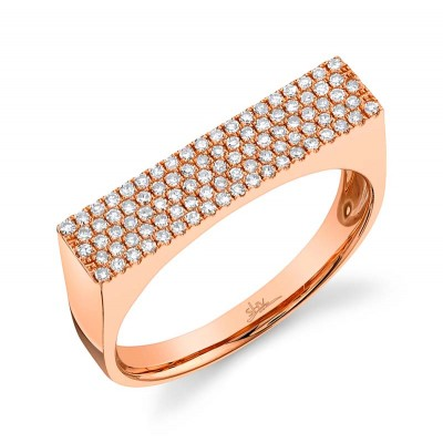 0.30ct 14k Rose Gold Diamond Pave Lady's Ring