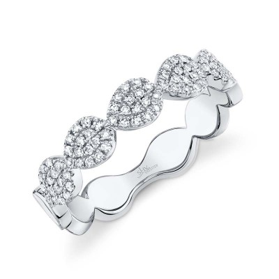 0.25ct 14k White Gold Diamond Pave Lady's Ring