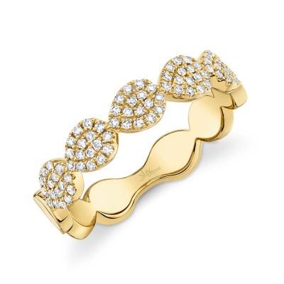0.25ct 14k Yellow Gold Diamond Pave Lady's Ring