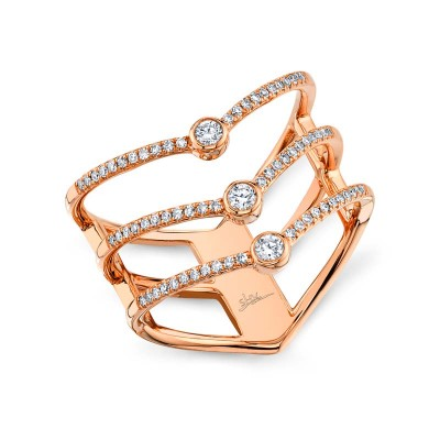 0.30ct 14k Rose Gold Diamond Lady's Ring