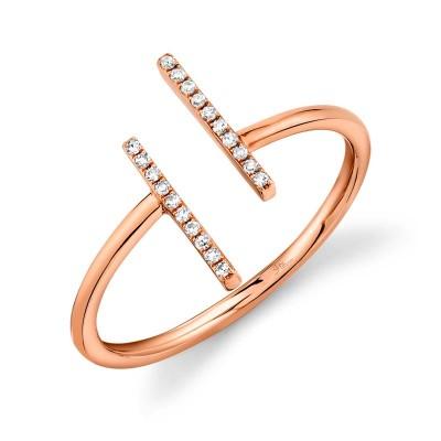 0.06ct 14k Rose Gold Diamond Lady's Ring