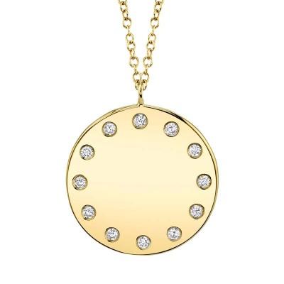 0.09ct 14k Yellow Gold Diamond Necklace