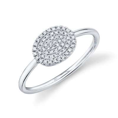 0.17ct 14k White Gold Diamond Pave Ring