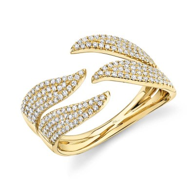 0.50ct 14k Yellow Gold Diamond Pave Lady's Ring