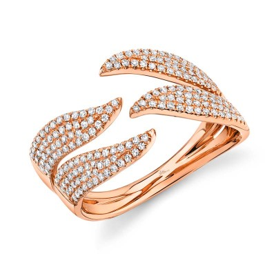 0.50ct 14k Rose Gold Diamond Pave Lady's Ring
