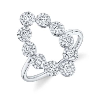 0.72ct 14k White Gold Diamond Lady's Ring