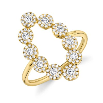 0.72ct 14k Yellow Gold Diamond Lady's Ring