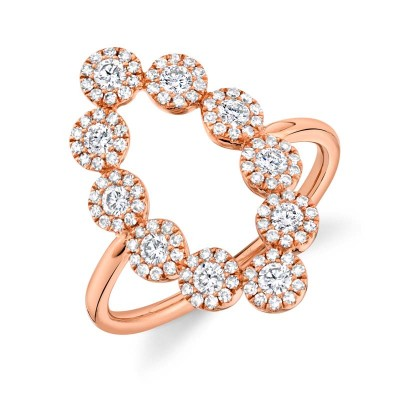 0.72ct 14k Rose Gold Diamond Lady's Ring