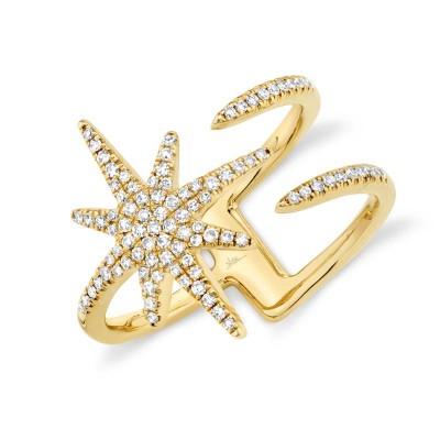 0.26ct 14k Yellow Gold Diamond Lady's Ring