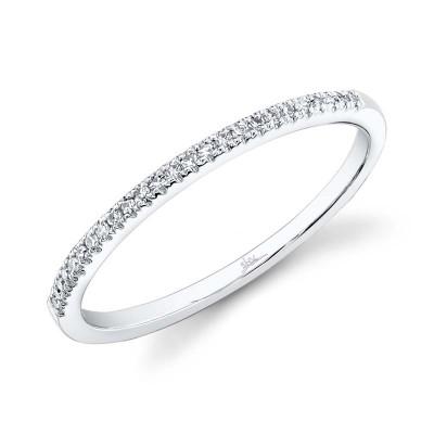 0.08ct 14k White Gold Diamond Lady's Band
