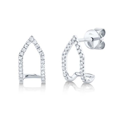 0.15ct 14k White Gold Diamond Earring