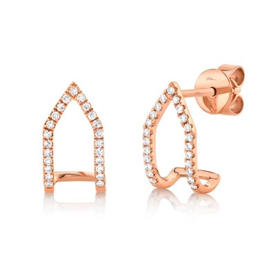 0.15ct 14k Rose Gold Diamond Earring