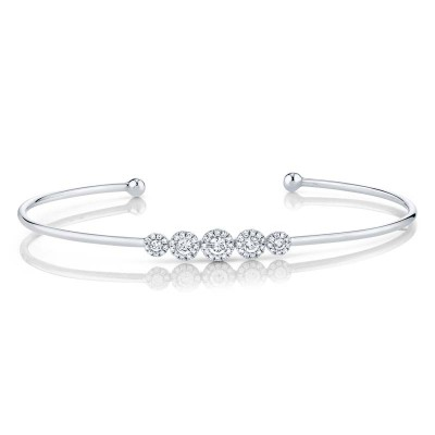 0.37ct 14k White Gold Diamond Bangle