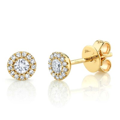 0.24ct 14k Yellow Gold Diamond Stud Earring