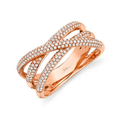 0.50ct 14k Rose Gold Diamond Bridge Ring