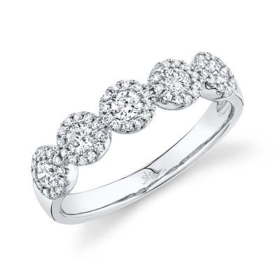 0.57ct 14k White Gold Diamond Lady's Ring