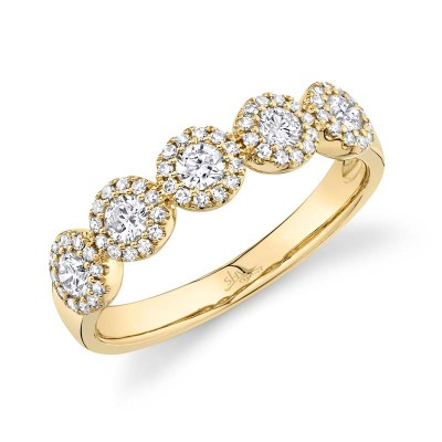 0.57ct 14k Yellow Gold Diamond Lady's Band