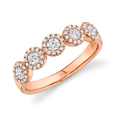 0.57ct 14k Rose Gold Diamond Lady's Band