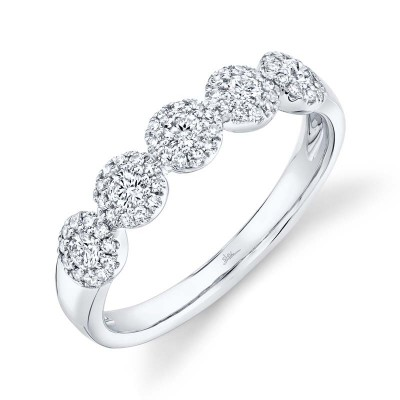 0.40ct 14k White Gold Diamond Lady's Band
