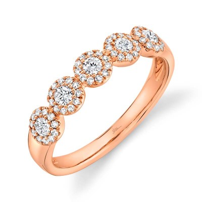 0.40ct 14k Rose Gold Diamond Lady's Band