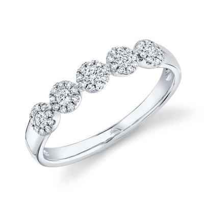 0.25ct 14k White Gold Diamond Lady's Band