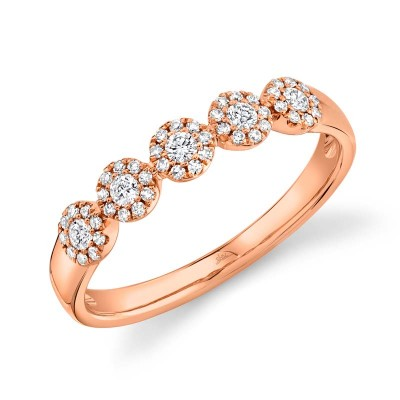 0.25ct 14k Rose Gold Diamond Lady's Band